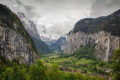 Vallée de Lauterbrunnen en Suisse Images libres de droits