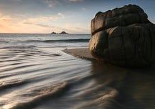 Vallée de lit de camp de flot Cornouailles occidentales à Image stock