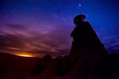 Vallée de lutin la nuit Photographie stock