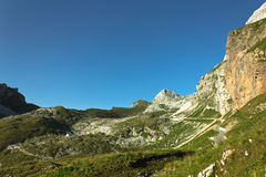 Vallée de mangart horizontale Images stock