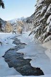 Vallée de Marcadau en hiver Image libre de droits