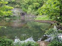 Vallée de Monsal, crête blanche Image libre de droits