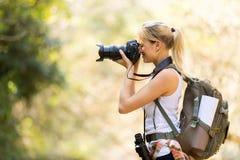 Vallée de montagne de photographe Images libres de droits