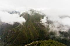 Vallée de montagne et la rivière d'Urubamba Image libre de droits