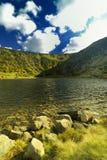 Vallée de montagne, lac Image libre de droits