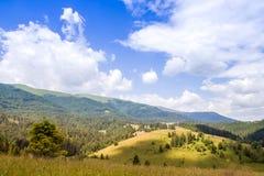 Vallée de montagne pendant le jour d'été aménagez l'été normal Photos libres de droits