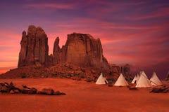 Vallée de monument en Arizona/en Utah Etats-Unis images stock