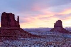 Vallée de monument en hiver image libre de droits