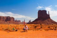Vallée de monument en parc tribal de Navajo, Etats-Unis Images libres de droits