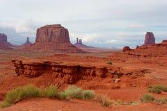 Vallée de monument, l'Arizona et l'Utah, Etats-Unis Photographie stock libre de droits