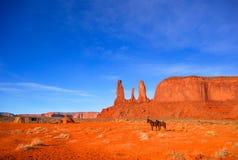 Vallée de monument pendant le matin Image stock