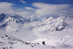 Vallée de neige Photographie stock libre de droits