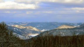 Vallée de neige Photographie stock