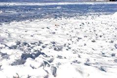 Vallée de neige Photo stock