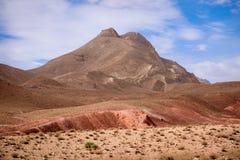 Vallée de nomade en montagnes d'atlas, Maroc Photographie stock libre de droits
