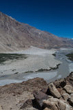 Vallée de Nubra dans Ladakh Photo stock