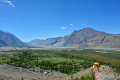 Vallée de Nubra dans Ladakh, Inde Images libres de droits