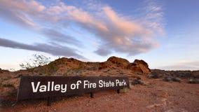 Vallée de parc d'état du feu Image stock