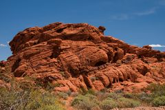 Vallée de parc d'état du feu, Nevada Images libres de droits
