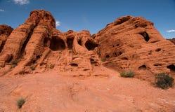 Vallée de parc d'état du feu, Nevada Photo libre de droits