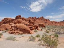 Vallée de parc d'état du feu, Nevada Photos stock