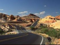 Vallée de parc d'état du feu, Overton, Nevada Photo stock