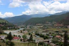Vallée de Paro au Bhutan image libre de droits