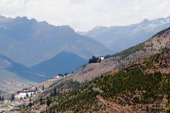 Vallée de Paro près d'aéroport - Bhutan Image stock