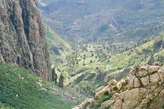 Vallée de paume de visibilité directe Roques Photos stock