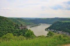 Vallée de rivière le Rhin images libres de droits