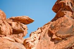 vallée de roche de formations d'incendie Images libres de droits