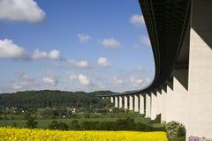 vallée de Ruhr d'autoroute de passerelle Photos libres de droits