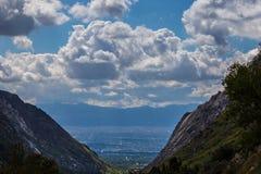 Vallée de Salt Lake City Utah Image stock