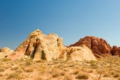 vallée de scène d'incendie de désert Photographie stock