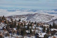 vallée de ski de ressource de cerfs communs Images libres de droits
