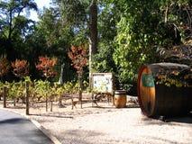 Vallée de Sonoma d'établissement vinicole photo stock