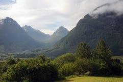 Vallée de Stardalen, Norvège Photos stock