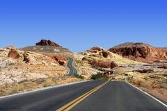 Vallée de stationnement d'état du Nevada d'incendie Photographie stock libre de droits