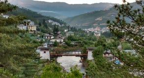 Vallée de Thimphou Photographie stock libre de droits