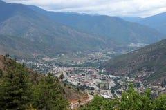 Vallée de Thimphou au Bhutan images stock