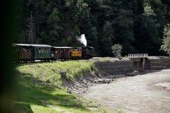 Vallée de Vaser et train de Mocanita vieux dans Maramures Roumanie photographie stock