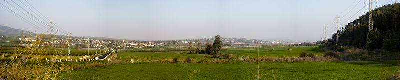 Vallée de Yizrael de vue de Pnoramic Image stock