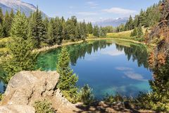 Vallée des cinq lacs Photo libre de droits