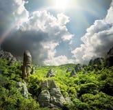 Vallée des fantômes en Ukraine Photographie stock
