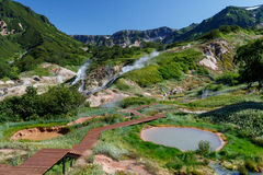 Vallée des geysers kamchatka Images libres de droits