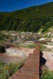 Vallée des geysers kamchatka Images stock