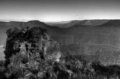 Vallée des montagnes bleues à Sydney Photos libres de droits