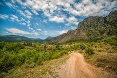 Vallée des ordinateurs de secours Montagnes criméennes Images stock