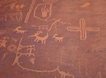 Vallée des pétroglyphes d'incendie Image stock