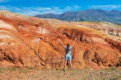Vallée des paysages de Mars photographie stock libre de droits